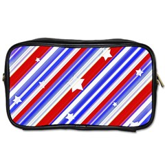 American Motif Travel Toiletry Bag (two Sides) by dflcprints