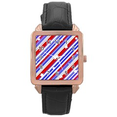 American Motif Rose Gold Leather Watch  by dflcprints