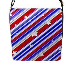 American Motif Flap Closure Messenger Bag (large) by dflcprints