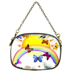 Butterfly Rainbow Days Chain Purse (two Sided)  by AlteredStates