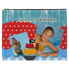 Summer By Summer Time    Cosmetic Bag (xxxl)   Dend9zndro05   Www Artscow Com Front