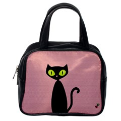 One Cool Cat Classic Handbag (one Side) by CrackedRadish