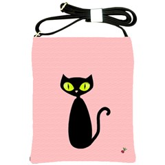 One Cool Cat Shoulder Sling Bag by CrackedRadish