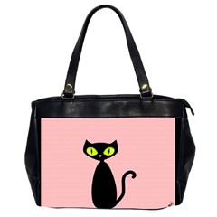 One Cool Cat Oversize Office Handbag (two Sides) by CrackedRadish