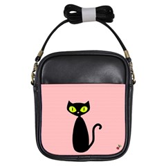One Cool Cat Girl s Sling Bag by CrackedRadish