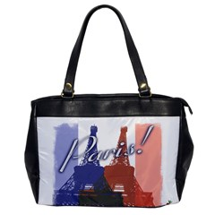 Paris! Oversize Office Handbag (one Side) by CrackedRadish