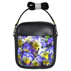 Painted Pansies Girl s Sling Bag by CrackedRadish