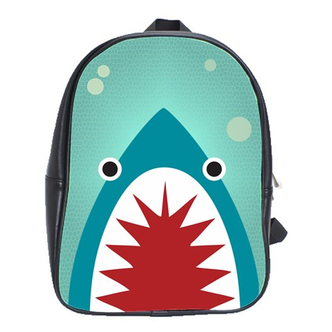 Shark By X   School Bag (large)   Wmwcrg7v7ojs   Www Artscow Com Front