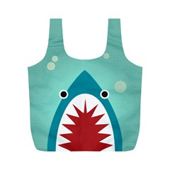 Shark By X   Full Print Recycle Bag (m)   U8ilhixnu3zv   Www Artscow Com Back