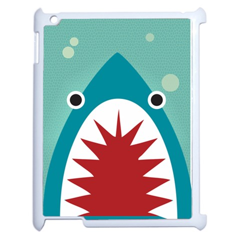 Shark By X   Apple Ipad 2 Case (white)   Zuhh8wh7qtme   Www Artscow Com Front