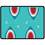 shark - Double Sided Fleece Blanket (Large)