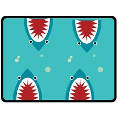 Shark By X   Double Sided Fleece Blanket (large)   8n4k49s36s91   Www Artscow Com 80 x60 Blanket Back