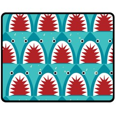 Shark By X   Double Sided Fleece Blanket (medium)   U9i0zjx1kbv1   Www Artscow Com 60 x50 Blanket Front