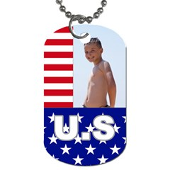 Usa By Usa   Dog Tag (two Sides)   284352dbotv3   Www Artscow Com Front