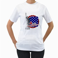 Usa By Usa   Women s T Shirt (white) (two Sided)   P6c5n7w8rbta   Www Artscow Com Front