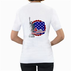 Usa By Usa   Women s T Shirt (white) (two Sided)   P6c5n7w8rbta   Www Artscow Com Back