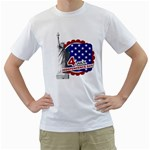 usa - Men s T-Shirt (White) (Two Sided)