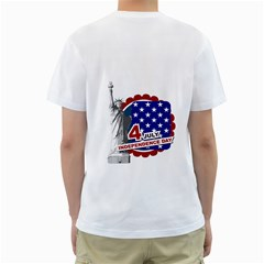 Usa By Usa   Men s T Shirt (white) (two Sided)   6ibxv0pr81an   Www Artscow Com Back