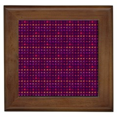 Funky Retro Pattern Framed Ceramic Tile by SaraThePixelPixie