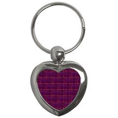 Funky Retro Pattern Key Chain (heart) by SaraThePixelPixie