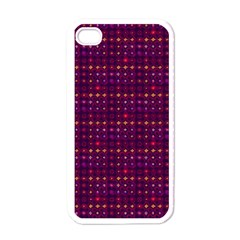 Funky Retro Pattern Apple Iphone 4 Case (white) by SaraThePixelPixie