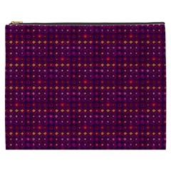 Funky Retro Pattern Cosmetic Bag (xxxl) by SaraThePixelPixie