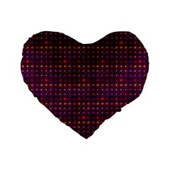 Funky Retro Pattern 16  Premium Heart Shape Cushion  by SaraThePixelPixie