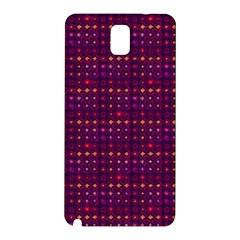 Funky Retro Pattern Samsung Galaxy Note 3 N9005 Hardshell Back Case by SaraThePixelPixie