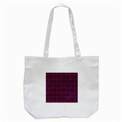 Funky Retro Pattern Tote Bag (white) by SaraThePixelPixie