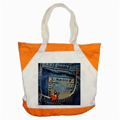 Blue Jean Lady Bug Accent Tote Bag by TheWowFactor
