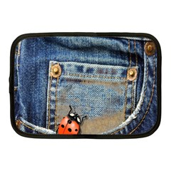 Blue Jean Lady Bug Netbook Sleeve (medium) by TheWowFactor