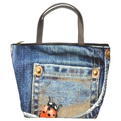 Blue Jean Lady Bug Bucket Handbag by TheWowFactor