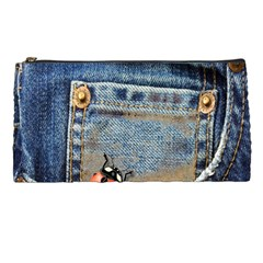 Blue Jean Lady Bug Pencil Case by TheWowFactor