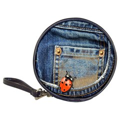 Blue Jean Lady Bug Cd Wallet by TheWowFactor