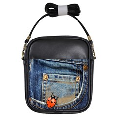 Blue Jean Lady Bug Girl s Sling Bag by TheWowFactor