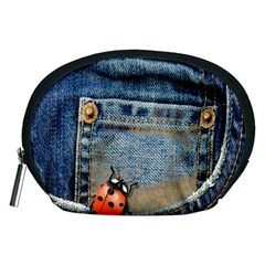 Blue Jean Lady Bug Accessory Pouch (medium) by TheWowFactor