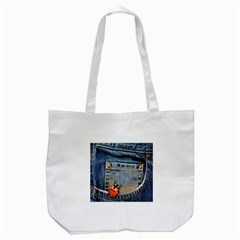 Blue Jean Lady Bug Tote Bag (white) by TheWowFactor