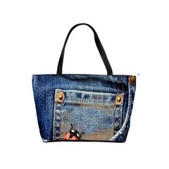 Blue Jean Butterfly Large Shoulder Bag by AlteredStates