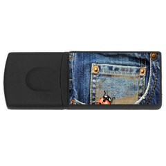 Blue Jean Butterfly 4gb Usb Flash Drive (rectangle) by AlteredStates