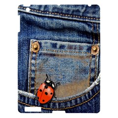 Blue Jean Butterfly Apple Ipad 3/4 Hardshell Case by AlteredStates