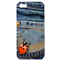Blue Jean Butterfly Apple Iphone 5 Hardshell Case by AlteredStates