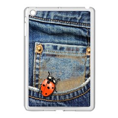 Blue Jean Butterfly Apple Ipad Mini Case (white) by AlteredStates