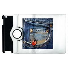 Blue Jean Butterfly Apple Ipad 2 Flip 360 Case by AlteredStates