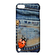 Blue Jean Butterfly Apple Ipod Touch 5 Hardshell Case With Stand by AlteredStates