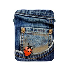 Blue Jean Butterfly Apple Ipad Protective Sleeve by AlteredStates
