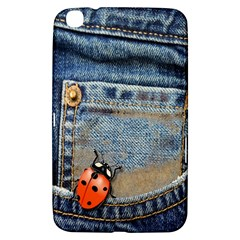 Blue Jean Butterfly Samsung Galaxy Tab 3 (8 ) T3100 Hardshell Case  by AlteredStates