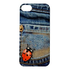 Blue Jean Butterfly Apple Iphone 5s Hardshell Case by AlteredStates