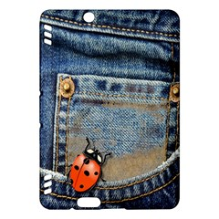 Blue Jean Butterfly Kindle Fire Hdx 7  Hardshell Case by AlteredStates