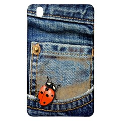Blue Jean Butterfly Samsung Galaxy Tab Pro 8 4 Hardshell Case by AlteredStates