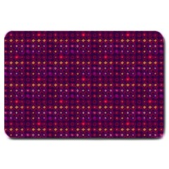 Funky Retro Pattern Large Door Mat by SaraThePixelPixie
